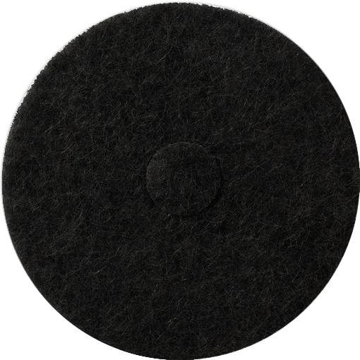 """Grovrengöringsrondell, 17"""" svart"""